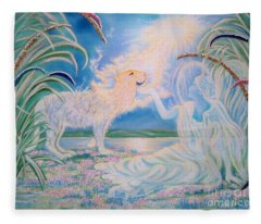 Chloe The Flying Lamb Productions.            Ask The Beasts And They Will Teach You. Fleece Blanket