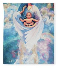 Angel Blessing Fleece Blanket