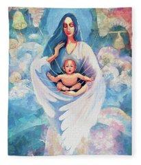 Angel Blessing Fleece Blanket