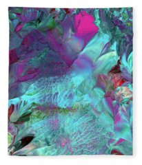 Angel Daphne Flowers #2 Fleece Blanket
