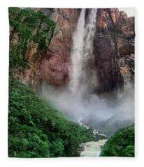 Angel Falls Canaima National Park Venezuela Fleece Blanket