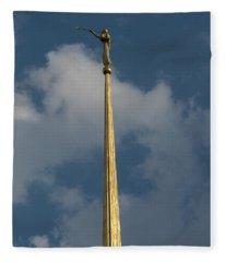 Angel Gabriel In The Sky Fleece Blanket