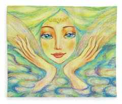 Angel Of Serenity Fleece Blanket