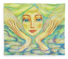 Angel Of Serenity Fleece Blanket