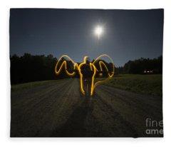 Angel Of The Blood Moon Fleece Blanket