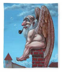Angel Of The Chimney Fleece Blanket