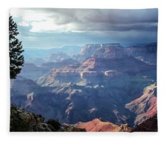 Angel S Gate And Wotan S Throne Grand Canyon National Park Fleece Blanket