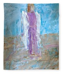 Angel With Confidence Fleece Blanket