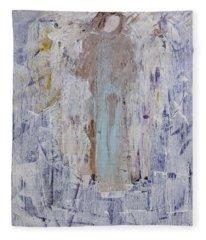 Angel With Her Horse Fleece Blanket