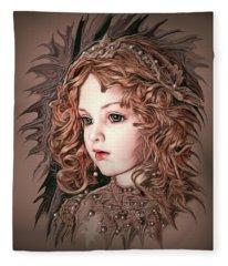 Angelic Doll Fleece Blanket