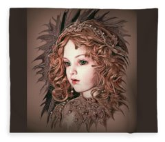 Angelic Doll Fleece Blanket