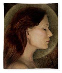 Angelic Portrait Fleece Blanket