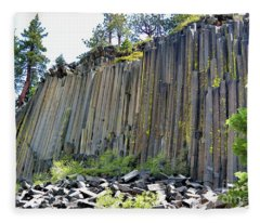 Angle View Desert Postpile Fleece Blanket