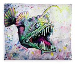 Angler Fish Fleece Blanket