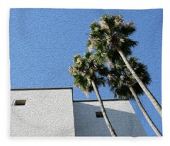 Angles And 3 Palm Tress Fleece Blanket