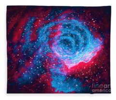 Angry Nebula  Fleece Blanket