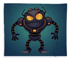 Angry Robot Fleece Blanket