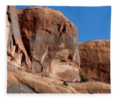 Angry Rock - 2  Fleece Blanket