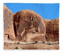 Angry Rock - 3  Fleece Blanket