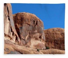 Angry Rock  Fleece Blanket