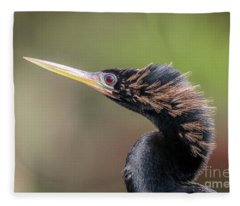 Anhinga Portrait Fleece Blanket