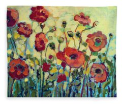 Anitas Poppies Fleece Blanket