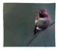 Anna Hummer Fleece Blanket