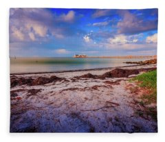 Anna Maria City Pier Fleece Blanket