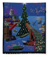 Annapolis Holiday Lights Parade Fleece Blanket