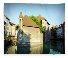 Annecy Canal - Annecy, France Fleece Blanket