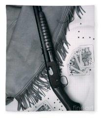 Annie Oakley's Remington Rifle Fleece Blanket