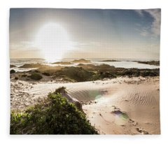 Another Beach Sunset Fleece Blanket