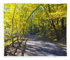 Another Fall In Philadelphia Fleece Blanket