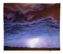 Another Impressive Nebraska Night Thunderstorm 007 Fleece Blanket