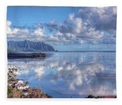 Another Kaneohe Morning Fleece Blanket