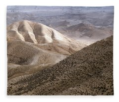 Another View From Masada Fleece Blanket