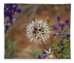 Another White Flower Fleece Blanket