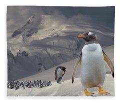 Antarctic Magesty Fleece Blanket