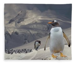 Antarctic Magesty Fleece Blanket