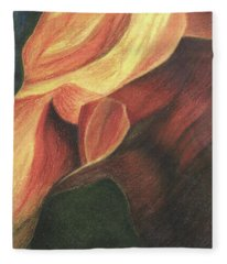 Antelope Canyon 3 Fleece Blanket