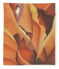 Antelope Canyon 4 - For Gloria Fleece Blanket