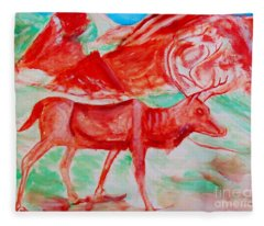 Antelope Save Fleece Blanket