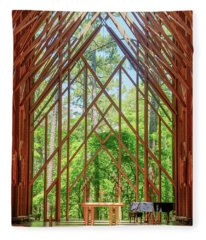 Anthony Chapel Inside Fleece Blanket