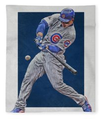 Anthony Rizzo Chicago Cubs Art 1 Fleece Blanket