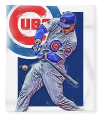 Anthony Rizzo Chicago Cubs Oil Art Fleece Blanket