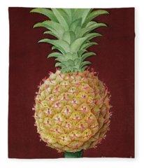 Antigua Black Pineapple Fleece Blanket