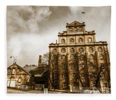 Antique Australia Architecture Fleece Blanket