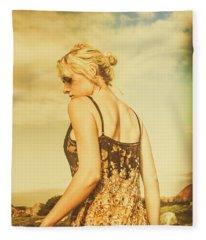 Antique Country Adventure Fleece Blanket
