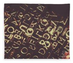 Antique Enigma Code Fleece Blanket