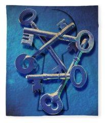 Antique Keys Fleece Blanket